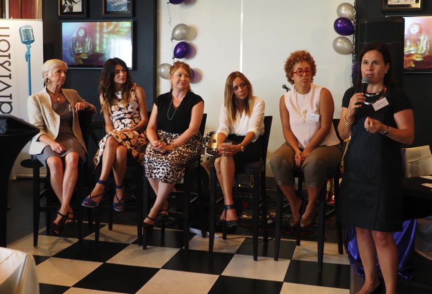 Women Who Rock Panellist Wendy Corbett, Silvia Colloca, Tahnee Walters, Karla Grant, Kate Mills with Katriina Tahka