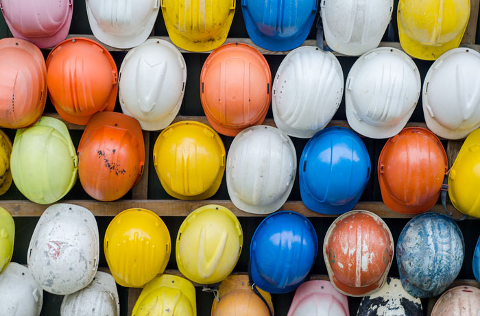 Canva - Construction, Helmet, Colorful, Pattern, Industry, Work